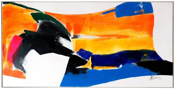 Orange Trip – Abstraktes Gemälde – Martin Klein – Handgemalt