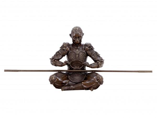 Sun Wukong Figur - König der Affen - Krieger Skulptur aus Bronze