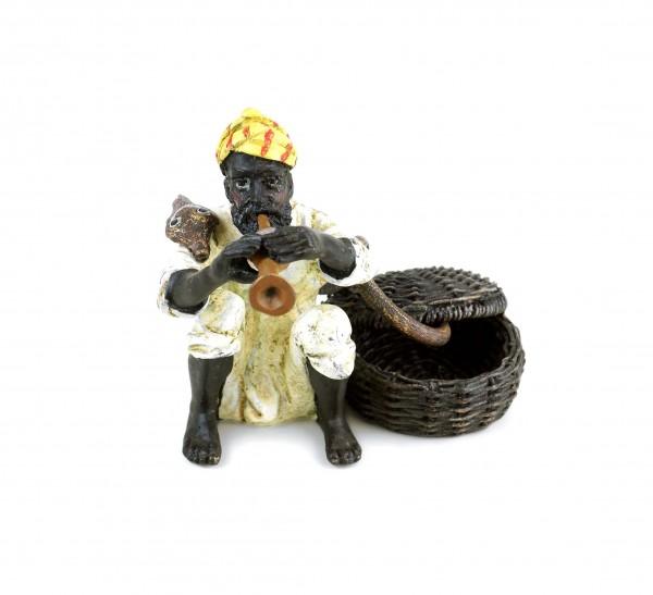 Wiener Bronze - Schlangenbeschwörer - gestempelt - zweiteilig