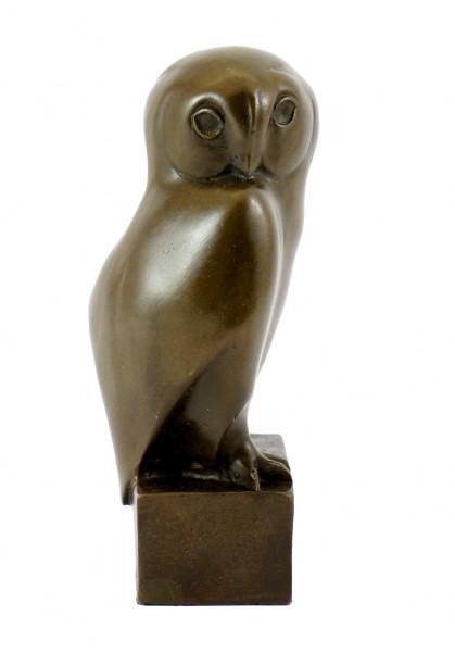 Tierskulptur aus echter Bronze - Eule - sign. François Pompon